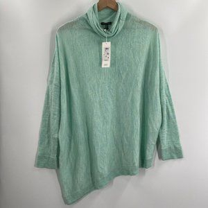 Eileen Fisher Asymmetrical Turtleneck Sweater